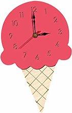 Fenteer Ice Cream Shape Wall Clock Radio