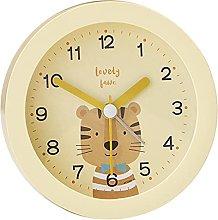 Fenteer Kids Analog Alarm Clock Cartoon Round