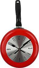 Fenteer Kitchen Wall Clock 8 Inch Frying Pan