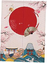 Fenteer Long Japanese Style Noren Door Way Curtain