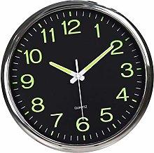 Fenteer Luminous Radio Wall Clock, Silent Luminous