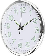 Fenteer Night Light Wall Clock, 12 Inch Silent