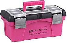 Fenteer Plastic Folding Storage Box Bag Pink