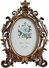 Fenteer Vintage Picture Frame Resin Golden Ornate