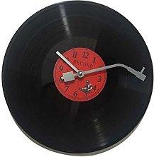 Fenteer Vintage Wall Clock Quartz Round CD Black