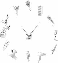 Fenteer Wall Clock Stickers, DIY Frameless Modern
