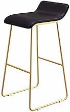 FENXIXI Bar Stool Metal Counter Stool with Seat
