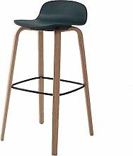 FENXIXI Bar Stool with Backrest, PP Seat Metal
