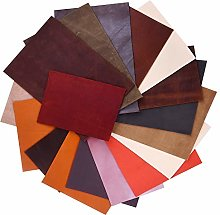 FEPITO 1kg Leather Scraps Various Sizes Shades