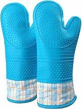 FERLLYMI Gauntlet Heat Resistant Oven Gloves Extra