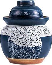 Fermentation Crock Jar, Kimchi Jar Stoneware Pot