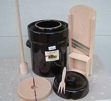 Fermentation pot Cabbage cutter Masher Fork 15 Lt.