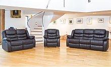 Fernandez Reclining Furniture: Three-Seater / Cream