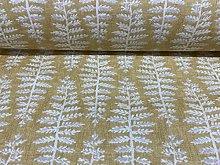 Fernista Ochre Yellow/Beige Cotton Designer