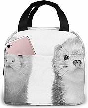 Ferrets Waterfall Painting Lunch Bag Insulated
