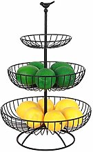 fervory 3-Tier Metal Fruit Basket Stand Countertop