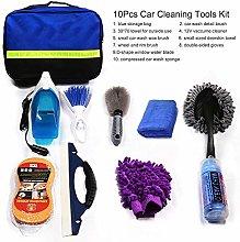 Fesjoy 10Pcs Car Cleaning Tools Kit, Car Wash
