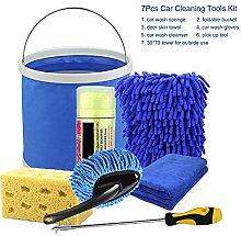 Fesjoy 7Pcs Car Cleaning Tools Kit, Car Wash Tools