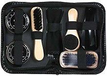 Fesjoy 8PCS Shoe Shine Care Kit Black and Neutral