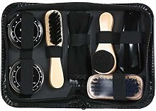 Fesjoy 8PCS Shoe Shine Care Kit Black and Neutral