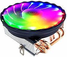 Fesjoy CPU Cooler, V4 CPU Cooler 4 Copper Heat