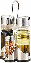 Fesjoy Seasoning Bottle Set,Condiment Holder