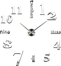 Festiday Modern Large 3D Wall Decorative Clock for