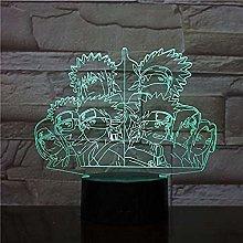 Festival 3D Family Led Acrylic Night Light With