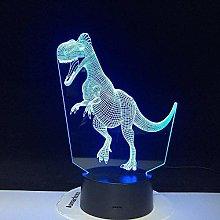 Festival 3D Led Night Light Lamp Dinosaur Series