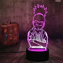 Festival Anime Nara Shikamaru Naruto Lamp 3D Led