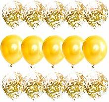 Festival Balloons 15Pcs 12Inch Yellow Balloons