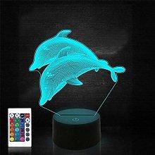 Festival Dolphin Night Light For Kid Ocean 3D