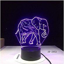 Festival Night Light Dance Elephant 3D Led Night