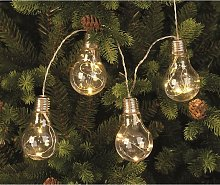 Festive - 10 Light Bulb with Warm White Led Wire