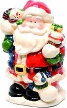 Festive 28cm Bright Glazed Finish Dolomite Santa