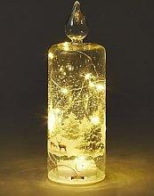 Festive Glass Candle 26Cm