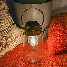 Festive Lights - Brass Antique Solar Jar Lantern -