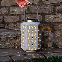 Festive Lights - Ceramic Solar Lantern - Hanging