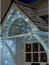 Festive Set Of 720 Bright White Led Icicle Lights