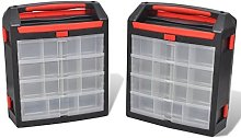 Festnight 2 Pcs Utility Tool Organiser Boxes with