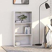Festnight 3-Tier Book Cabinet Sideboard Bookcase