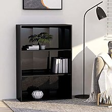 Festnight 3-Tier Book Cabinet Storage Unit Display
