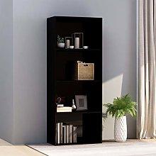 Festnight 4-Tier Book Cabinet Sideboard Bookcase