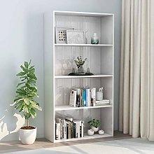 Festnight 4-Tier Book Cabinet Storage Unit Display