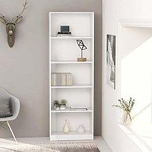 Festnight 5-Tier Book Cabinet Wooden Shelving
