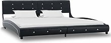 Festnight Bed Frame with Headboard, Metal Legs For