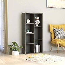 Festnight Book Cabinet Grey/Book Cabinet for