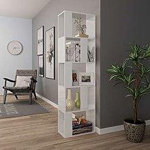 Festnight Book Cabinet/Room Divider with Shelving
