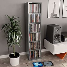 Festnight CD Cabinet with 6 Open Compartments,