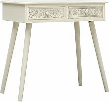 Festnight Console Table with 2 Drawers, Carving